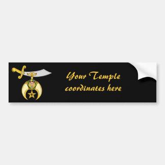 Personalize Masonic & Shriners Emblem Bumper Sticker