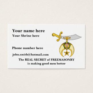 Personalize Masonic & Shriners Emblem Business Card