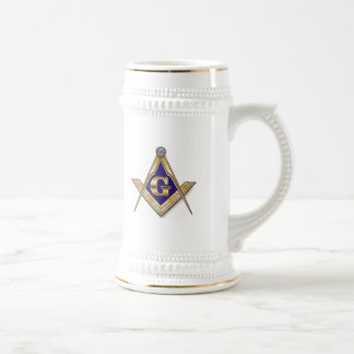 PERSONALIZE MASONIC SQUARE AND COMPASS 18 OZ BEER STEIN