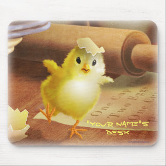 Personalize me Baby Chick Mousepad