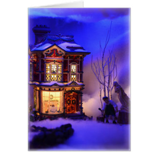 Personalize Me! Dicken's Village Christmas Card