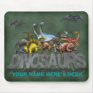 Personalize Me Dinosaurs Mouse Pad