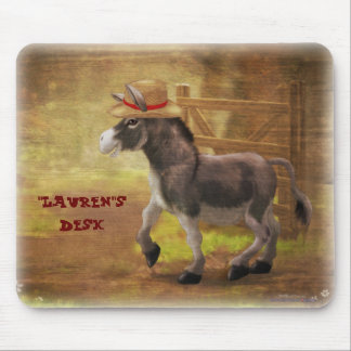 Personalize Me Donkey Mouse Pad