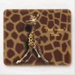 """Personalize me!"" Giraffe Mouse Pad"