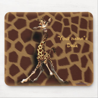 """Personalize me!"" Giraffe Mouse Pad"