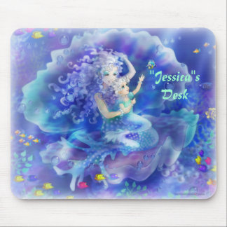Personalize Me Mermaid and Child Mouse Pad