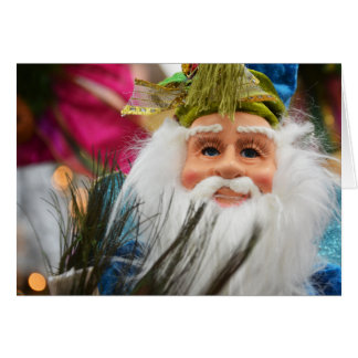 Personalize Me! Mr. Blue Claus Greeting Card