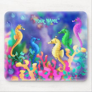personalize me Seahorses Mousepads