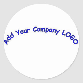 PERSONALIZE me with your CUSTOMER COMPANY LOGO!! Classic Round Sticker