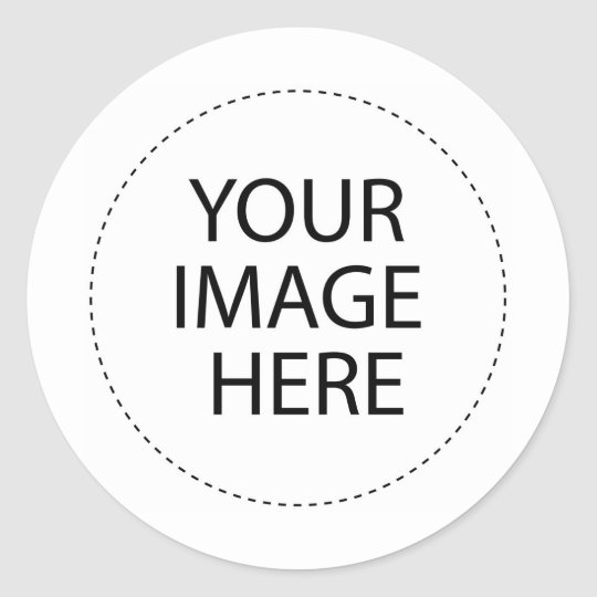 Personalize me with YOUR Logo! Classic Round Sticker
