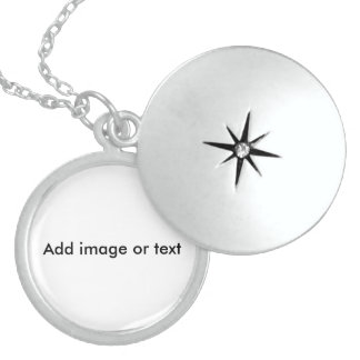 Personalize - Medium Sterling Silver Round Locket