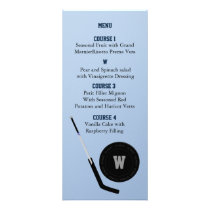 Personalize Menu cards Ice Hockey theme