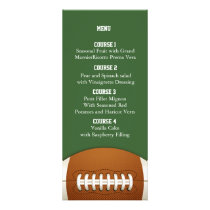 Personalize Menu cards Sports Party football theme
