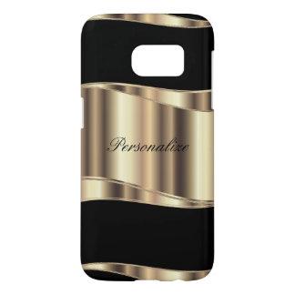 Personalize Metallic Gold Design Samsung Galaxy S7 Case