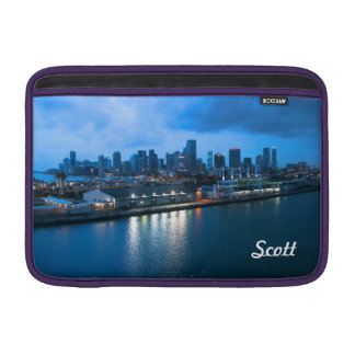 Personalize Miami Skyline from the Port Photo MacBook Sleeve
