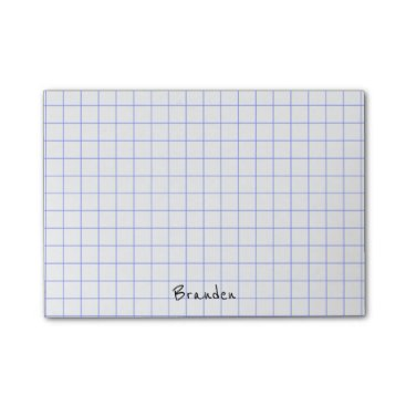 NancyTrippPhotoGifts Personalize:  Minimalist Grid Paper Notes Monogram