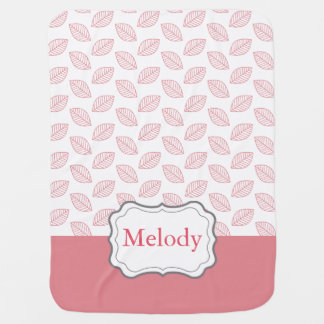 Personalize Modern Baby Nature, Customizable Color Receiving Blanket