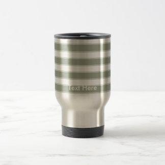 Personalize Modern Contemporary Stripes Travel Travel Mug