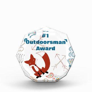 Personalize Modern Fox  Woodland Pattern Acrylic Award