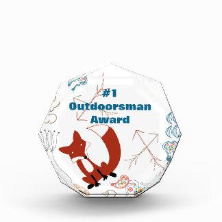 Personalize Modern Fox  Woodland Pattern Award