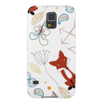 Personalize Modern Fox  Woodland Pattern Case For Galaxy S5