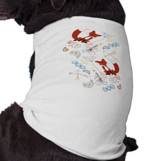 Personalize Modern Fox  Woodland Pattern Tee