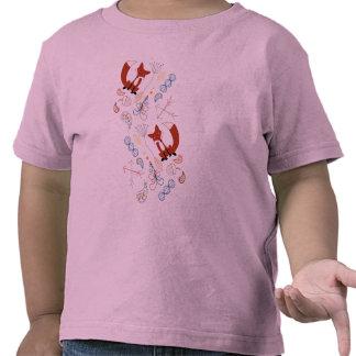 Personalize Modern Fox  Woodland Pattern Shirt