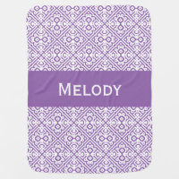 Personalize Modern Moroccan, Customizable Color Baby Blanket