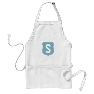 Personalize monogram S BBQ apron for men and women