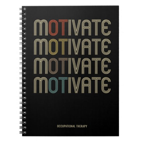 Personalize Motivate Occupational Therapy Notebook