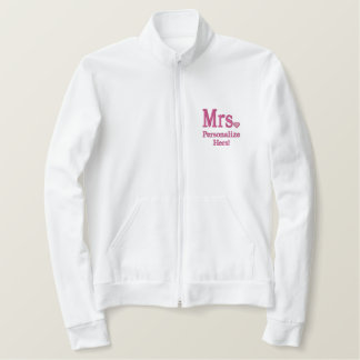 Personalize Mr & Mrs Embroidery Embroidered Gear Embroidered Jacket