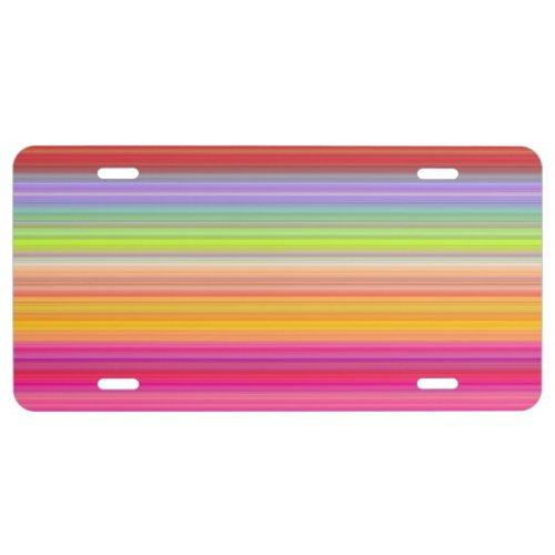 Personalize _ Multicolor gradient background License Plate