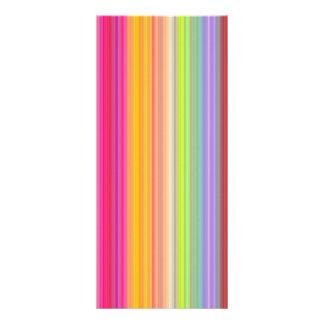 Personalize - Multicolor gradient background Rack Card