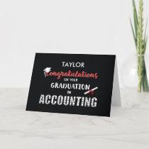 Personalize Name Accounting Graduation Congratulat Card