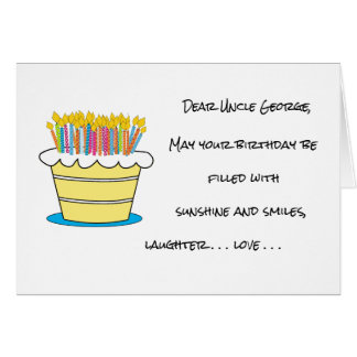 Personalize Name and Age Happy Birthday Greeting Card
