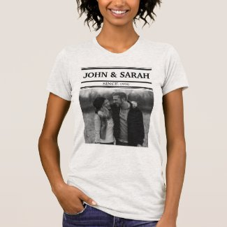 Personalize Name And Photo T-Shirt