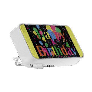 Personalize Name Birthday Party Celebration Art Speaker System