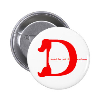 Personalize Name Button - D