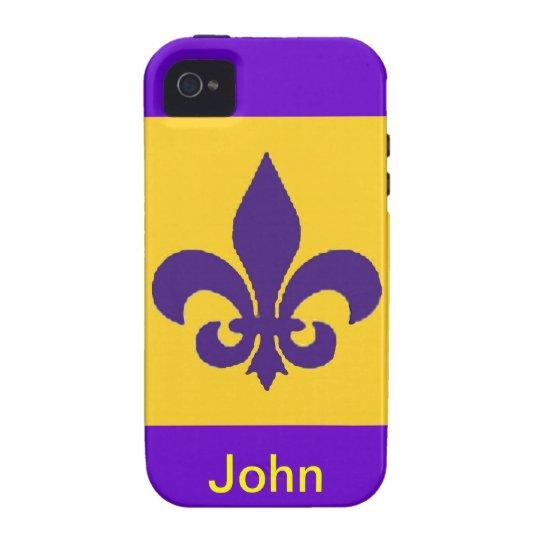 Personalize Name: Fleur De Lis Iphone Case