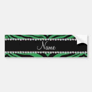 Personalize name green tiger stripes bumper stickers