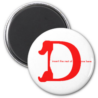 Personalize Name Magnet - D