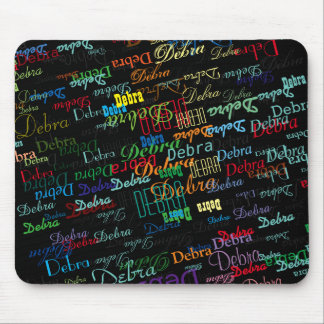 personalize name pattern colorful mouse pad