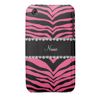 Personalize name pink tiger stripes Case-Mate iPhone 3 case