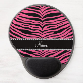 Personalize name pink tiger stripes gel mousepad