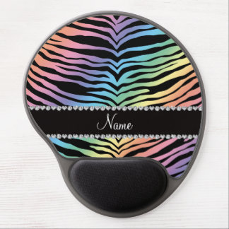 Personalize name rainbow tiger stripes gel mouse mat
