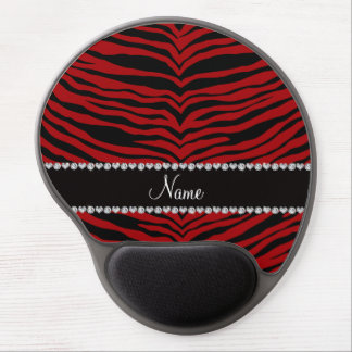 Personalize name red tiger stripes gel mouse pads