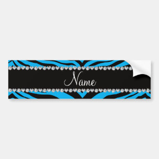 Personalize name sky blue tiger stripes bumper stickers