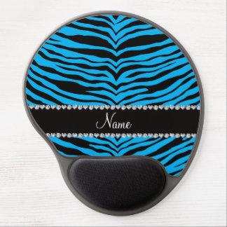 Personalize name sky blue tiger stripes gel mousepads