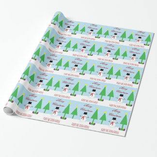 Personalize Name Snowman Paper Wrapping Paper