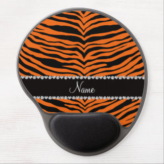 Personalize name turquoise tiger stripes gel mouse mats